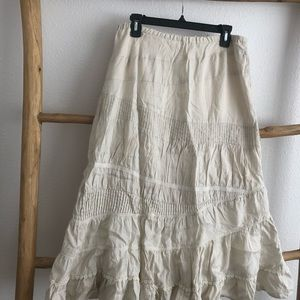 Anthropologie linen skirt
